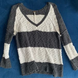 Free people oversized striped sweater